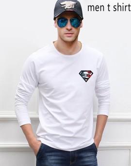 Weiliang diy Superman men long sleeve t-shirts cotton top tees loose fit men fashion