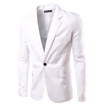 white NEW Mens Fashion Brand Blazer British's Style casual Slim Fitsuit jacket male Blazers men coat Terno Masculino Plus Size M-3XL -intl