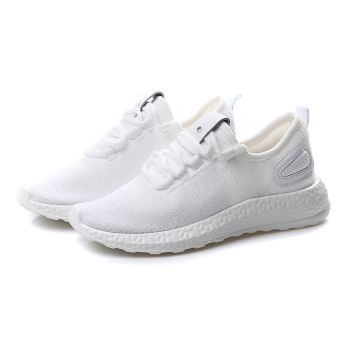 Wild Black New style mesh couple casual shoes sports shoes (White)
