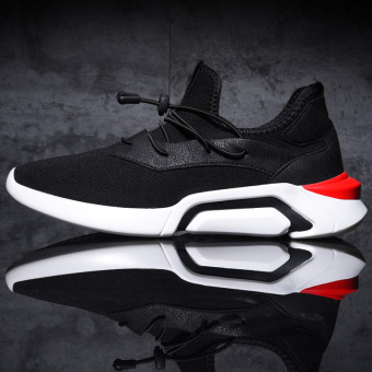 Versatile student running autumn Sneakers Shoes Men's + Black White Men's + Black White