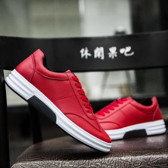WINDRIDERISM New Fashion Mens Casual Shoes Outdoor Men Sneakers Running Shoes for Men Red - intl