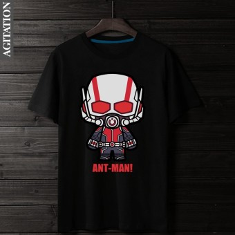 Winter cotton Teenager round neck short sleeved t-shirt (Ant-Man black)