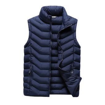 Winter down man lightweight vest Deep Blue