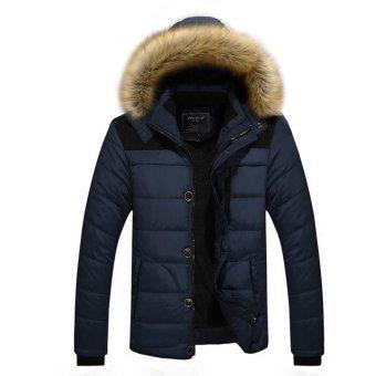 Winter Jacket Men Casual Cotton Thick Warm Coat Men's Outwear Parka Plus size 5XL Coats Windbreak Snow Military Jackets - intl