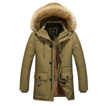 Winter Jacket Men Cotton Thicken Coat New Arrival Parka Large Size High Quality Long Warm Coats For Men - intl