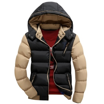 Winter Jacket Men Warm Thermal Coat Cotton Padded Clothes Thickening - intl