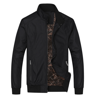 Winter Jacket for men sports clothing Black Plus Velvet Black Plus Velvet