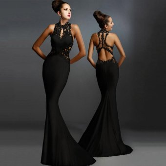 Women Formal Long Wedding Bridesmaid Evening Party Ball Prom Gown Cocktail Dress - intl