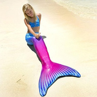 Women Mermaid Tail Swimmable Monofin Tail Swimming Costumes Flippers 03# - intl