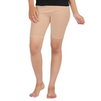 Women Sexy Cotton Boyshort Yoga Bike Shorts Cycling Shorts (Beige)