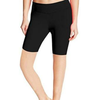 Women Sexy Cotton Boyshort Yoga Bike Shorts Cycling Shorts (Black)