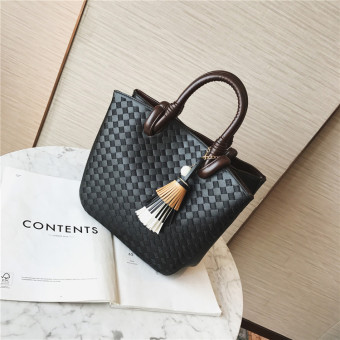 Women's Fashion Retro Hand Bag (Black)