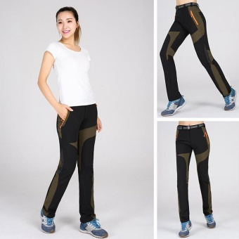 Women's Super Quality Elastic Waistband Pants for Climbing HikingFishing Trekking Camping(Black) - intl
