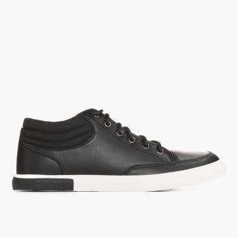 Word Balance Mens Lowell Sneakers Black