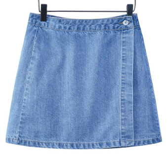 Xisiyao Korean-style New style high-waisted word cowboy skirt (3555 light blue)