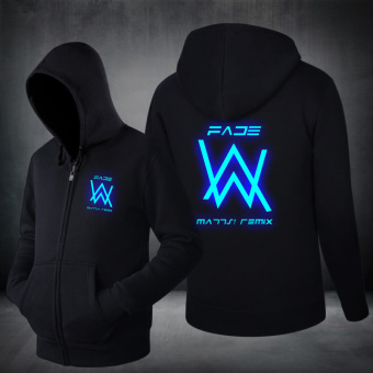 Xiu Luo DJ clothes matching light jacket Black blue glow in the dark