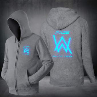 Xiu Luo DJ clothes matching light jacket Gray blue glow in the dark