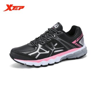 XTEP Brand Profession Light Running Shoes for Women Damping Athletic Sneakers Sports Run Shoes Trainers Men's Shoes (Black) - intl
