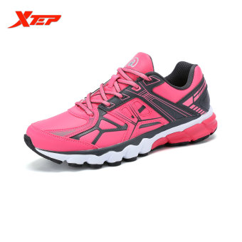 XTEP Brand Profession Light Running Shoes for Women Damping Athletic Sneakers Sports Run Shoes Trainers Men's Shoes (Pink)