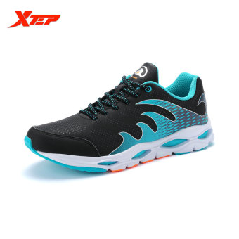 XTEP Brand Professional Running Shoes Men Sports Shoes 2016 Damping Trail Runner Athletic Mens Wide Sneakers (Black) - intl