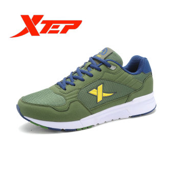 XTEP Brand Running Shoes for Men Sports Shoes Mesh Men's Sneakers Trainer Outdoor Athletic Shoes zapatos de hombre (Army/Green) - intl