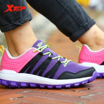 XTEP Trail Running Shoes for Women Athletic Sneakers (Purple) -intl