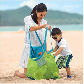 XTV Portable Tote Beach Toys Storage Mesh Bag Sand Away Kids ObjectCarrying Bags - intl
