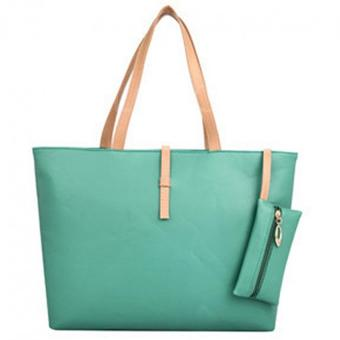 YBC Women PU Leather Shoulder Bag Tote Bag Handbag Green