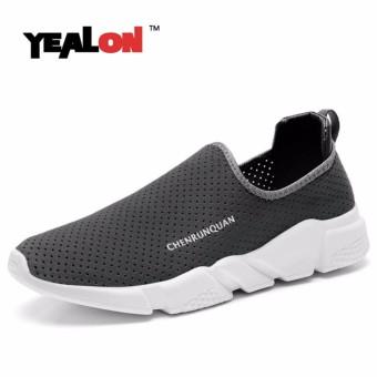 YEALON Fashion Running Shoes For Men Women Outdoor Sneakers Sport Shoes Men Slip-On Black Sneakers Men Women Casuals Shoes Men - intl