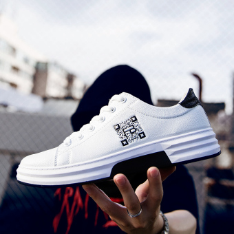 Youth casual summer Teenager white shoes White and black Men Sneakers Rubber Shoes