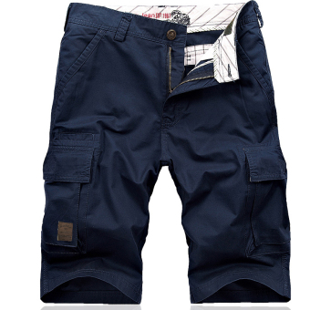 Youth Summer bags Capri pants shorts for men Sapphire Blue Sapphire Blue