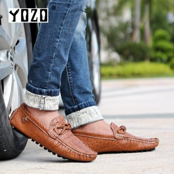 YOZO Fashion New Mens Casual Shoes Slip On Men'S Flats Driving Shoes Mocassin Driving Shoes Loafers Man - intl