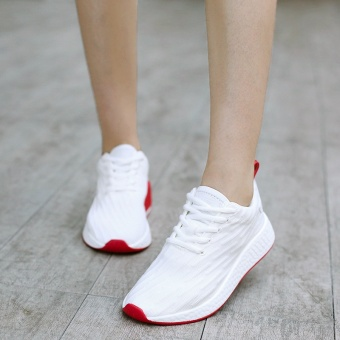 Yozo Lovers Styles Men Shoes Women Shoes Running Shoes Hemp AirMesh Outdoor Sports Shoes Lace Up Tide Shoes(White) - intl