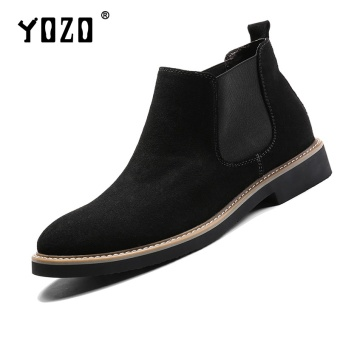 Yozo Men Shoes Boots Genuine Leather Formal Fashion Shoes Slip On Men'S ShoesBlack - intl