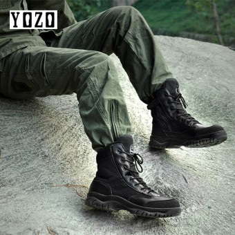 YOZO Military Boots High-Quality Men Shoes Women Shoes Special Forces Combat Boots High Top Tactical Boots Wear-Resisting Desert Boots Army Boots Sizes 35-46 - intl