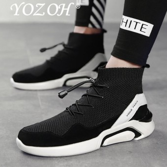 YOZOH Men Casual Shoes Slip On Male Fashion Footwear Walking Sock Shoes Mens Breathable Sports Shoes - intl