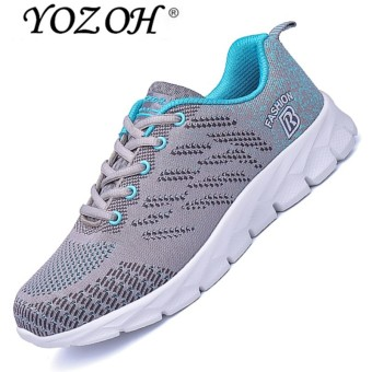 YOZOH Mens Running Shoes Lightweight Sports Shoes Summer Breathable Jogging Sneakers For Man Outdoor Flat Walking Trend Shoes - intl