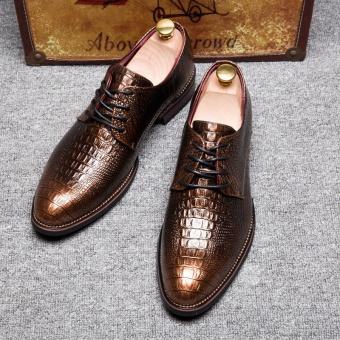 ZANT Designer Mens Shoes Genuine Leather Patent Blue Pointed Toe Lace Up Men Dress Shoes Formal Wedding Shoes Black