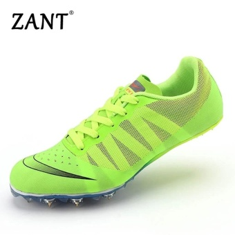 ZANT Track Sports Running Shoes Spike Spikes Athletics TrainingShoes (Green) - intl