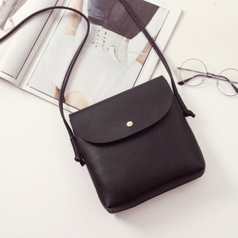 Zhuo Erhan version shoulder small bag New style women's bag (Black)