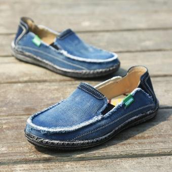 ZNPNXN Men Shoes Tide Canvas Casual Shoes Slip On Men Canvas Shoes Fashion Quality Men Shoes Old Beijing Shoes Beggar Shoes - intl