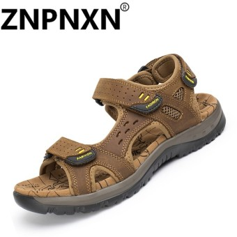 ZNPNXN Mens Sandals Genuine Leather Cowhide Sandals Outdoor Casual Men Summer Leather Shoes For Men - intl