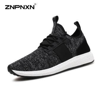 ZNPNXN Men'S Shoes Breathable Comfort Tide Shoes Coconut Shoes Men'S Shoes Fashion Casual Sports Shoes Mens Shoes Size 39-44 Yards Black - intl