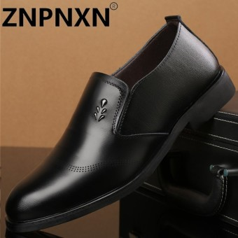 ZNPNXN New Arrivals Top Quality Luxurious Geniune Leather Shoes Men'S Formal Shoes Dress Shoes Business Office Shoes Kasut Lelaki Black - intl