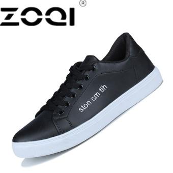 ZOQI Canvas Flat Shoes Men Fashion Sneaker BreathableBlack - intl
