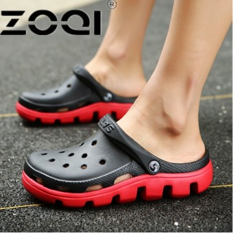 ZOQI Comfortable Men And Women Slip On Garden Crocus Clogs Men Outdoor Beach Sandals Casual Water Shoe Slippers Soft Men Shoe - intl