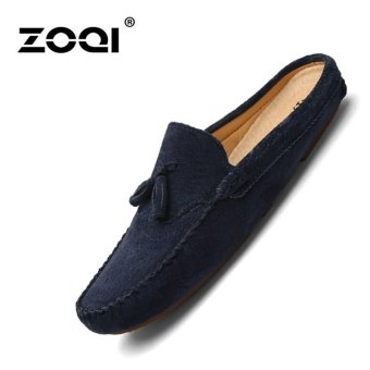 ZOQI Fashion Men Shoes Slip-Ons & Loafers Comfortable Flat ShoesBlue - intl