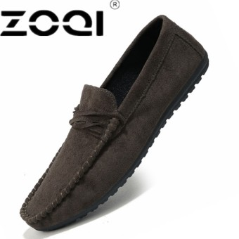 ZOQI Fashion Spring Style Soft Moccasins Men Loafers High Quality Genuine Leather Shoes Men Flats Driving Shoes - intl