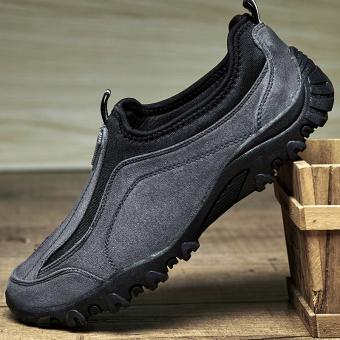 ZOQI Man s Papa Shoes Professional Design Walking Shoes Grey intl