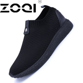 ZOQI Men Running Shoes Breathable Mesh Lace Up Trainer Walking Shoes Outdoor Athletic Sport Sneakers For Men - intl